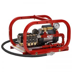Electric hydrostatic pumps for pressure testing boilers and heat exchangers.